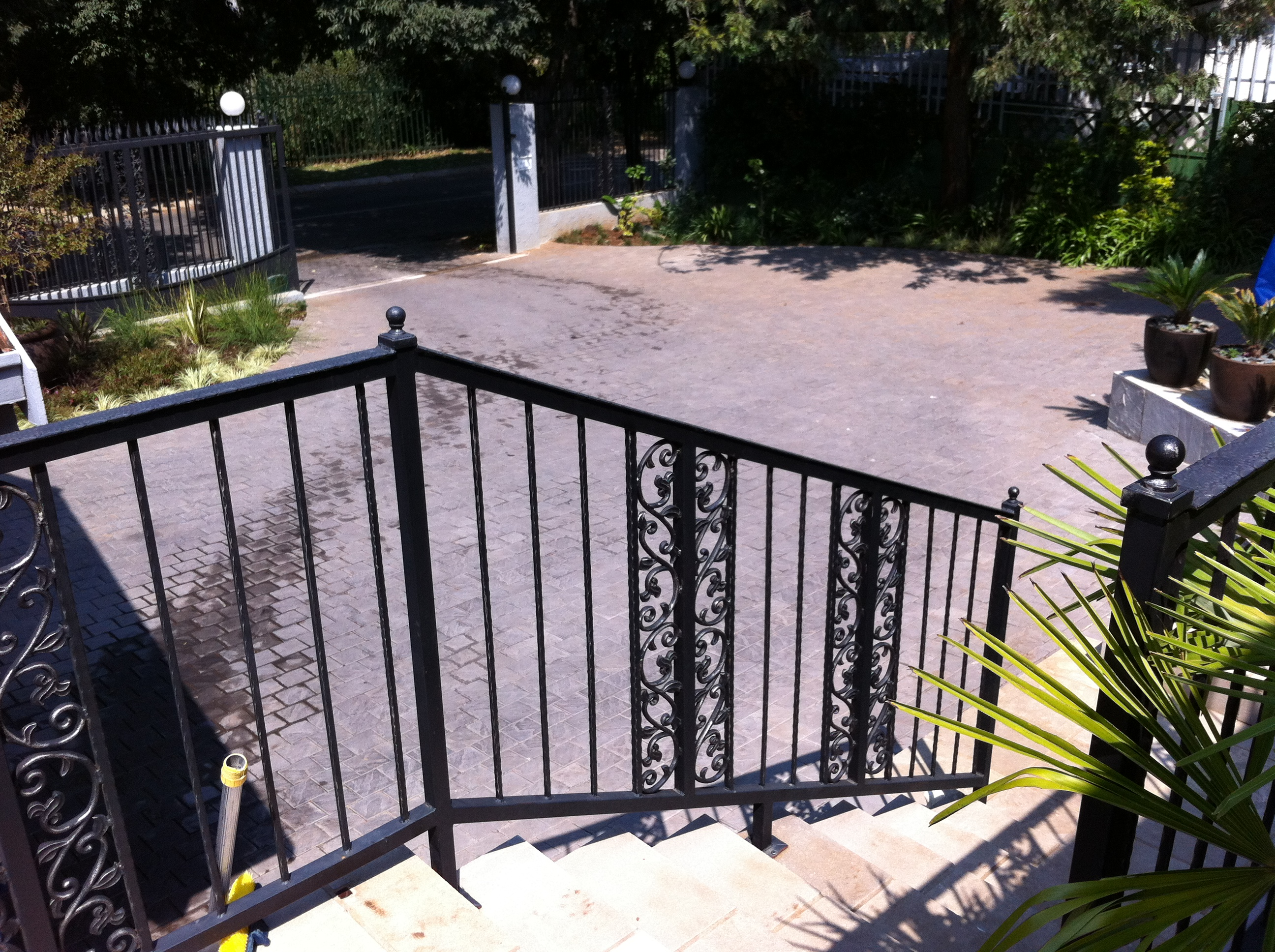 red hot fire and iron steel gate designs south africa