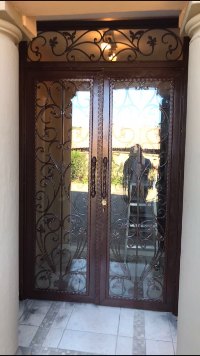 Metal Wrought Iron And Glass Front Doors Gautengsouth Africa
