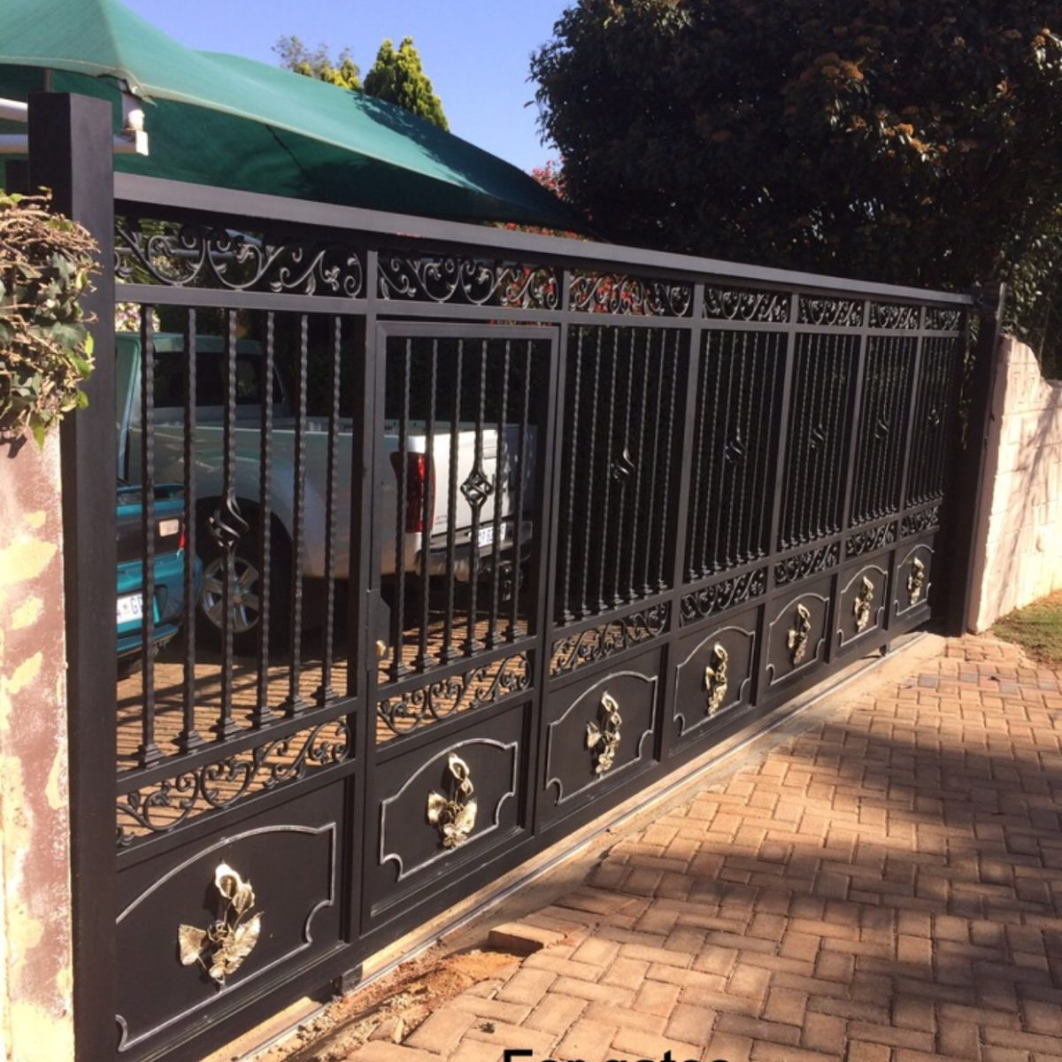 Wrought iron sliding gates by amazinggates.co.za