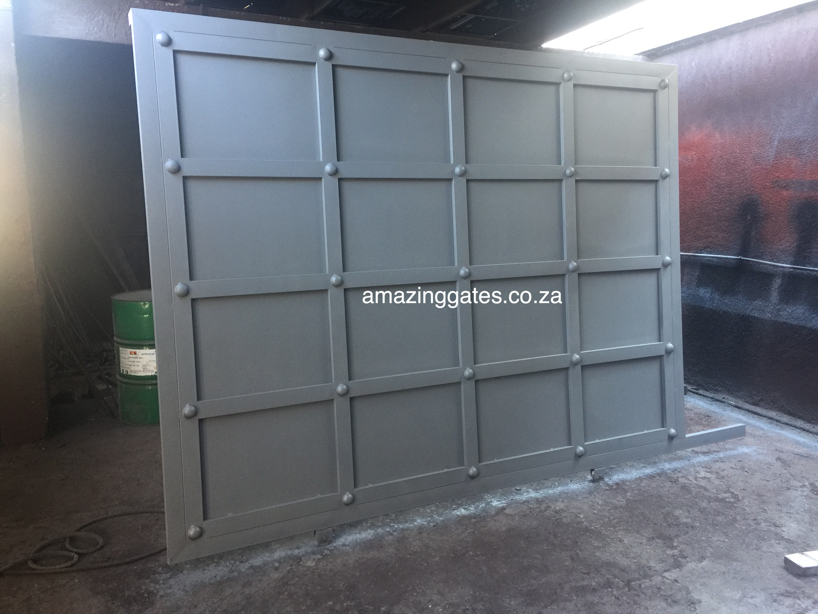 Steel plated gate